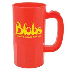 14 Oz. Red Plastic Stein