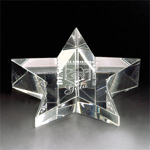 Stargazer - Stargazer Crystal Paperweight By Crystal World