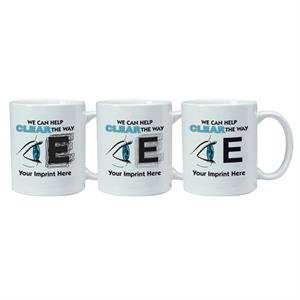 Magic Mug (tm) - 11 Oz Temperature Reactive Ceramic Mug With Eye Exam Trick Design Pattern
