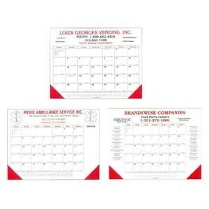 "Desk Planner Calendar With 2 Corners And Chipboard Back Measures 22"" X 17 1/4"""