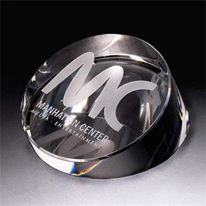 Continuum - Continuum Round Crystal Paperweight By Crystal World