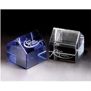 House - House Crystal Paperweight By Crystal World