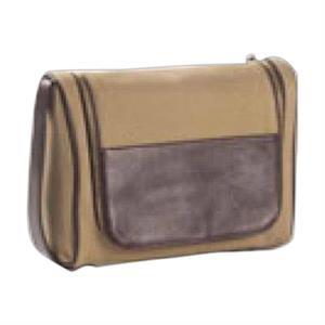 Redford - Leather Accented Toiletry/cosmetics Case With Hook To Hang From Door Or Hook