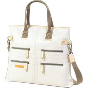 Carina - Coated Canvas Zipper Tote/shoulder Bag
