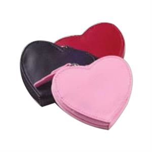 "Clava(r) - Heart Shaped Coin Purse Holds A Substantial Amount Of Change, 3.5"" X 3"" X .5"""