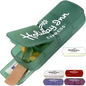 Duo Series - Duo Pill Case With Four Separate Compartments And Sliding Bandage Tray