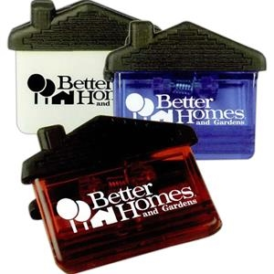 House Shaped Memo Clip With Heavy Duty Spring Loaded Hinge And Magnet