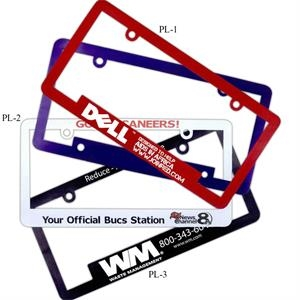 License Plate Frame With Narrow Top And Full Length Bottom Panel