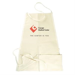 Natural 10 Oz. Duck Bib Apron With Center Rule Pocket