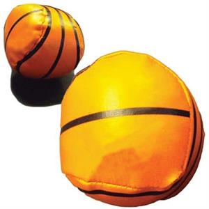 Vinyl Covered Throw Ball With Basketball Design