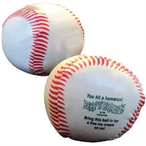 Vinyl Covered Throw Ball With Baseball Design