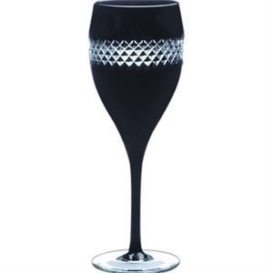 Rocha Black Flute Glass, Pair