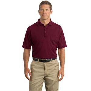 Cornerstone (r) Port Authority (r) - 4 X L Colors - Industrial Pique Polo Shirt With Pocket, 6.8 Ounce, 100% Spun Polyester