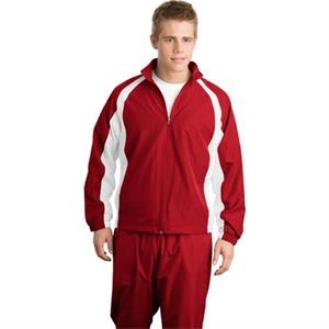 Sport-tek (r) -  X S -  X L All Colors - Full Zip 5 In 1 Warm-up Jacket With Mesh Lined Sleeves