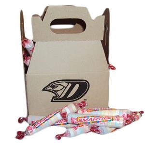 Cardboard Gable Box With Individually Wrapped Smartees Candies