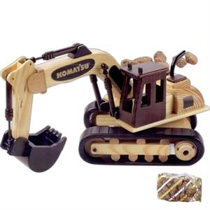 Mixed Nuts In An Imported Wooden Excavator Truck
