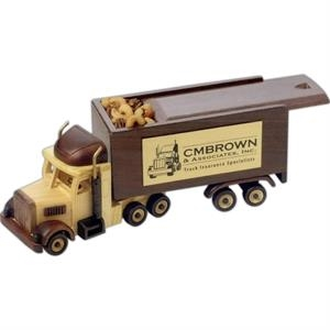 Chocolate Almonds In An Imported Wooden Semi Truck With Sliding Lid