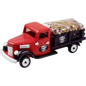 Pistachios In An Imported Red Wooden Stake Truck