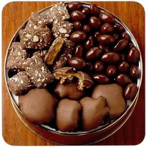 Peanut Clusters/deluxe Mix Nuts Gift Tin, 37 Oz