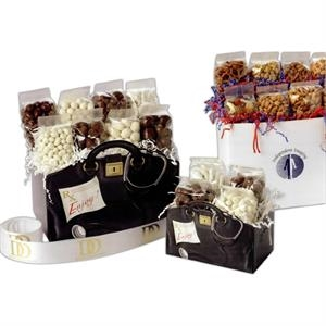 Snack Lovers - Blank Solid Color Small Gift Box With Snack Mix, Mini Pretzels And More