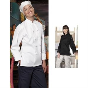 Sedona - 4 X L-6 X L - Poly Cotton Twill Women's Chef Coat With 10 Knot Buttons. Blank