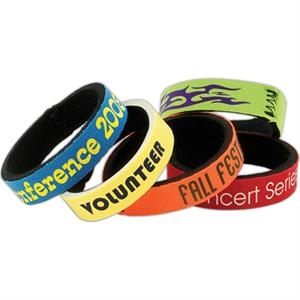 Promo Wrist Band (tm) - Youth Wristband With Your Promo, Youth, High Quality Neoprene (wet Suit Material)