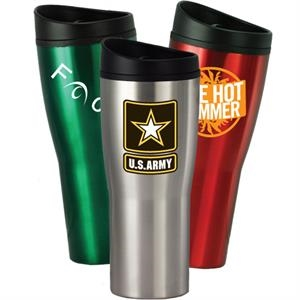 Sippy - 16 Oz. Travel Tumbler With Stainless Steel Outer Shell, And Plastic Liner