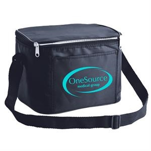 Black - Shoulder Strap Cooler Bag With Adjustable Shoulder Strap And Foil Insulation
