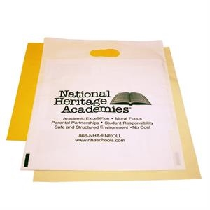 "Die Cut Handle White Bag, 15"" X 18"" X 4"""