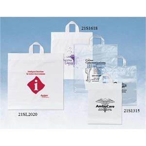 Elephant - Plastic Bag With Soft Loop Handles, Reinforced Fold-over Tops And Bottom Gussets
