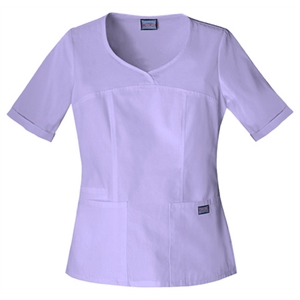 Cherokee - Orchid - Sa4746 Cherokee Novelty V-neck Scrub Top - 15 Colors Available
