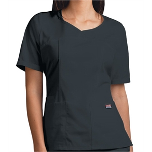 Cherokee - Pewter - Sa4746 Cherokee Novelty V-neck Scrub Top - 15 Colors Available