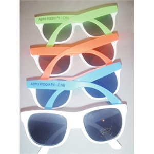 Uv Sunglass , All White Or White With Assorted Bright Arms