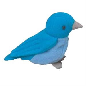 Weebeans (tm) Animal Fair - Blue Bird - Plush Three Inch Toy Animal With Silver Ball Chain, Blank