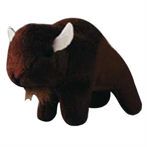 Weebeans (tm) Animal Fair - Buffalo - Plush Three Inch Toy Animal With Silver Ball Chain, Blank