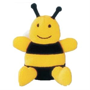 Weebeans (tm) Animal Fair - Bee - Plush Three Inch Toy Animal With Silver Ball Chain, Blank