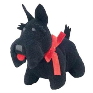 Weebeans (tm) Animal Fair - Scottie - Plush Three Inch Toy Animal With Silver Ball Chain, Blank