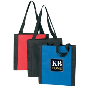 Embroidery - Medium Two-tone Tote Bag Made Of 600-denier Polyester With Vinyl Backing