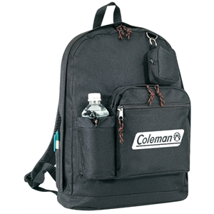 Embroidery - Large School Backpack Bag With Bottle Holder, Side Pen Slots, Coin Pouch And Straps