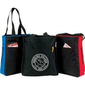 2-tone Tote Bag 1 Front Pocket And 2 Zippered Side Pockets. Hand/shoulder Straps