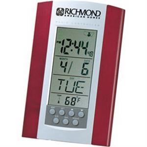 Radio Controlled Clock With Calendar And Thermometer