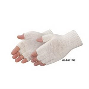 Fingerless Natural Cotton/polyester Blend Work Gloves, Blank