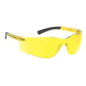 Amber Lens With Self Frame Lightweight Wrap Around Safety Glasses
