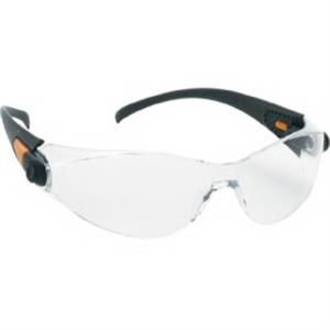 Provizgard - Clear Anti-fog Lens - Sporty Single-piece Lens, Black Frame Safety Glasses