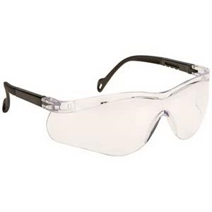 Clear Lens - Single-piece Lens Wrap-around Safety Glasses