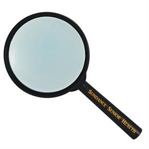 "5x Hand Held Magnifier With 3.5"" Glass Lens"