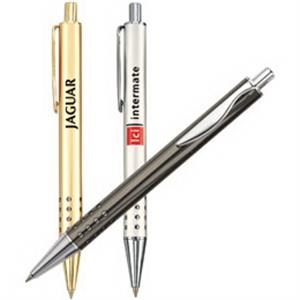Ballpoint Pen With Color Finish, Solid Brass Barrel