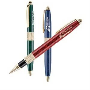 Cap-off Roller Ball Pen With Brass Construction With Elegant Design