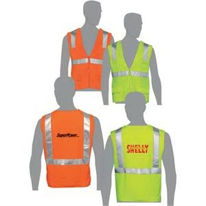 Lime - Class 2 Compliant Solid Fabric Surveyors Vest With Silver Retro-reflective Stripes