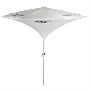 Tulip - Tulip Shaped Aluminum 9 Ft. X 8 Ft Panel Market Umbrella